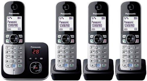 Panasonic KX-TG6824GB - Teléfono (120 entradas, LCD, 103 x 65 Pixeles, Monocromo, 107 x 77 x 86 mm, 46 x 160 x 30 mm) [Importado de Alemania] [versión importada]: Panasonic: Amazon.es: Electrónica