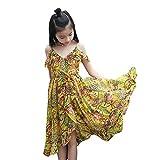 Julhold Vestido de verano para niños y niñas, con hombros