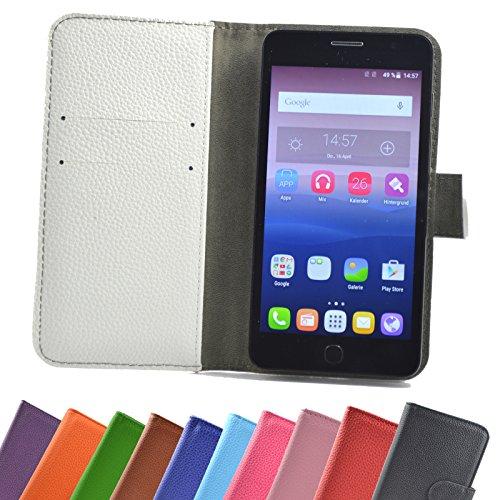ikracase Hülle für MEDION Life P5005 Handy Tasche Hülle Schutzhülle in Weiß