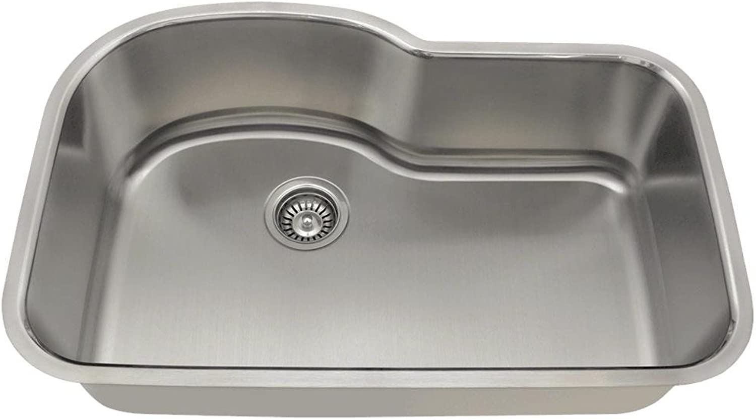 Mr Direct 346-18 Single Bowl Stainless Steel Sink