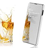 EROYAL for OPPO Realme 3 Case,Smart Flip Mirror cover Clear