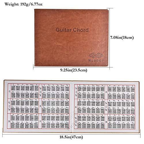 Portátil para practicar el espectro de la música Folk/guitarra clásica/guitarra/lectrica tarjeta de afinación para guitarra portátil con 6 cuerdas particiones musicales. Libro de acuerdos de guitarra