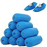 100 Fundas Desechables para Zapatos Duraderas y Resistentes al Agua Antideslizantes Reciclables Color Azul Talla única