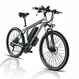 26' Bicicleta Eléctrica E-Bike, Bicis de Montaña Electricas para Adulto de 48V 1000W con Batería Extraíble de 18Ah, Bicicleta de Ciudad para Hombres y Mujeres