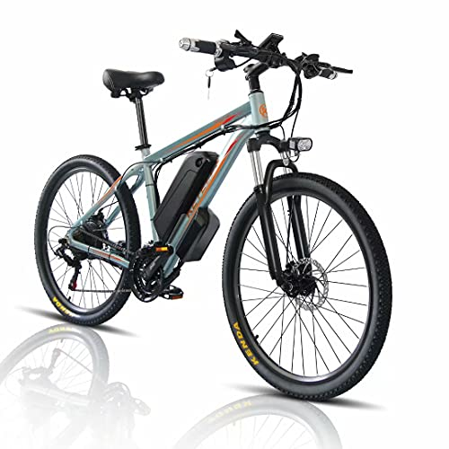 26 Zoll Elektro Fahrrad E-Bike, E-Mountainbike mit 1000W Motor + 48V 18Ah Abnehmbare Batterie, Shimano 21 Gang-Schaltung, Citybike für Erwachsene Herren/Damen