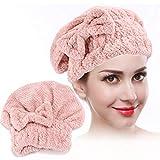 24 x 26cm Sombrero de abrigo de secado rápido de vellón coralino, Sombrero de secado de cabello engr...