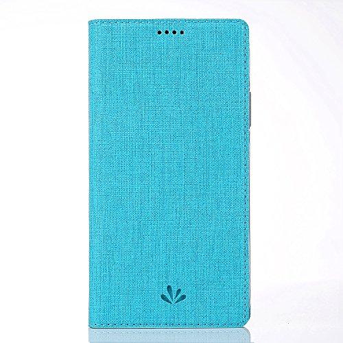 ZiHang Funda para LG Q7 / LG Q7+ / LG Q7α, Slim con Tapa de Piel Sintética, a Prueba de Golpes, con Ranura para Tarjeta de TPU, Soporte Magnético con Ventosa para LG Q7 / LG Q7+ / LG Q7α (Azul)
