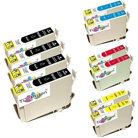 10x Epson Stylus Sx 130 Kompatible Xl Druckerpatronen 4xschwarz 2xcyan 2xmagenta 2xgelb Mit Chip Bürobedarf Schreibwaren