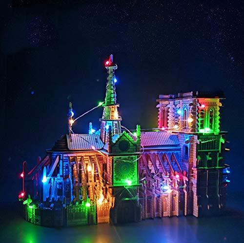 Puzzles 3D Notre Dame de Paris Grande Iglesia Asamblea Modelo de Construcción 3diy Rompecabezas en Tres Dimensiones Regalo Hecho a Mano for niños y Adultos