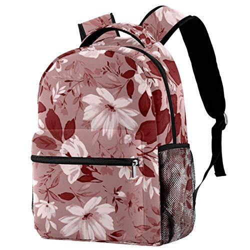 Mochila con diseño de rosas de flores, mochila de viaje informal para mujeres, adolescentes, niñas y niños