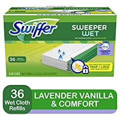 Textured Wet mopping pad cloths TRAP + LOCK dirt deep in cloth. Scrubbing Strip removes tough spots Use with Swiffer Sweeper Dissolves dirt and grime better than a mop Unique formula traps and locks dirt deep in cloth With Febreze Fresh Scent Safe on...