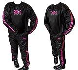 Tuta sauna dimagrante 2Fit, di colore rosa, resistente, antistrappo, ideale per palestra, fitness,...