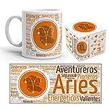 Kembilove Taza de Desayuno Horóscopo de Aries – Taza de café de Signo del Zodiaco de Aries – Tazas de Café y Té Horóscopo Aries – Regalo Original para Parejas, Cumpleaños, Amigos