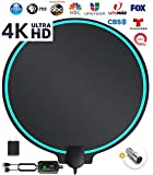 DrillTop Amplified HD Digital TV Antenna Best Ultra Long Range, Support 4K 1080p TV's | Indoor Smart Switch...