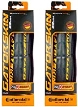 Continental GatorSkin DuraSkin Tire, 2-Count (Folding, 700 x 25mm), Black