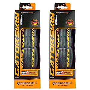 Continental GatorSkin DuraSkin Tire, 2-Count (Folding, 700 x 25mm), Black