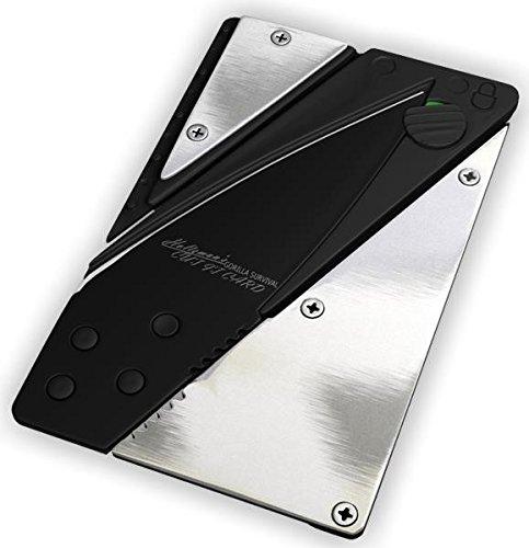 Holtzman#039s Credit Card Knife #1 Best Wallet Knife Silver Black
