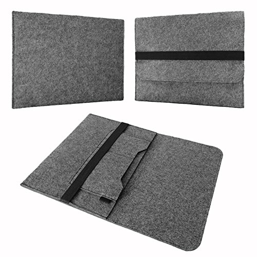 NAUC Notebook Sleeve Hülle Laptop Hülle Ultrabook Cover 11-12.3' Tasche Filz Cover, Notebook:TrekStor SurfTab Duo W3 W2 W1, Farbe:Grau