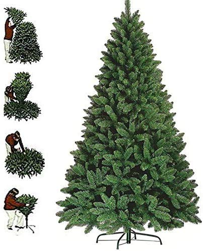 FlickBuyz 7ft Artificial Green Colorado Xmas Trees with Metal Stand 1000 Tips Christmas Tree