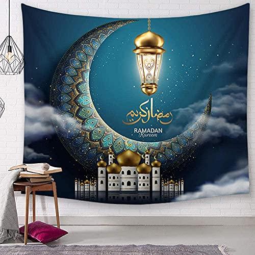 GDFEH Tapices de pared Ramadán decoración para colgar en la pared, decoración del hogar para sala de estar, dormitorio (color: B, tamaño: 150 x 130 cm de grosor lijado)