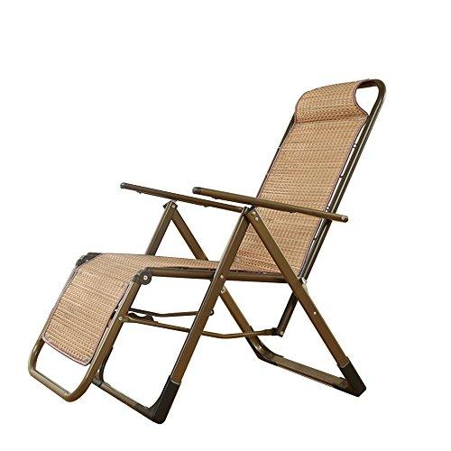 Qivor Silla Plegable Bambú sillón/Silla Plegable Almuerzo/Silla Siesta Mayor/Silla de Playa del Verano/Silla Perezosa/Exterior sillón/Silla de bambú siamés Silla de salón