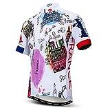 Weimostar Herren Radfahren Trikot Kurzarm Outdoor Mountainbike Kleidung Frankreich XXXL