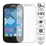 Guran® Protector de Pantalla Vidrio Cristal Templado Para Alcatel OneTouch Pop C3 4033D (4pulgada Smartphone Film