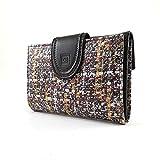 Ccasanova | Damenbrieftasche mit Geldbörse | Ubrique Lederbrieftasche | Brieftasche und Kartenhalter Handgemacht | Hergestellt in Spanien | 27914 Braun