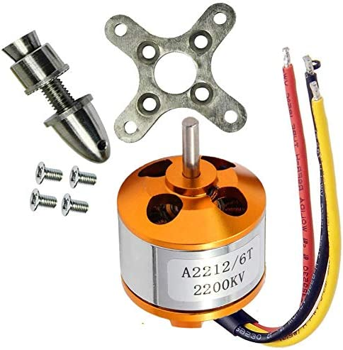 abcGoodefg A2212 Brushless Motor 2200KV Outrunner Brushless Motor RC Accessories Kit with Mounts product image
