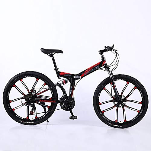 XINGXINGNS vouwfiets 26 inch koolstofstaal mountainbike, vouwfiets unisex mountainbike koolstofstaal frame fiets mountainbike 27 snelheden