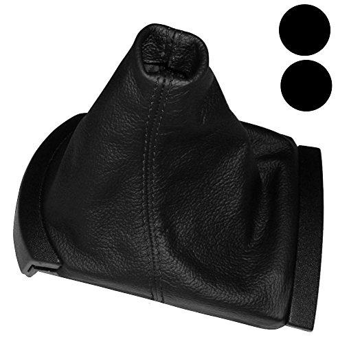 AERZETIX Cuffia leva cambio e freno a mano di 100/% VERA PELLE nero con cuciture rosse