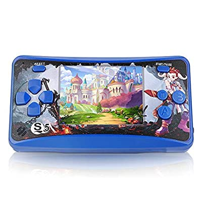 QoolPart Handheld Games for Boys Girls, Classic Games Built-in TFT Color Screen Portable Video Game Player, Arcade System Electronic Toys TV-Out Game Player Birthday Xmas Presents Gifts by QoolPart