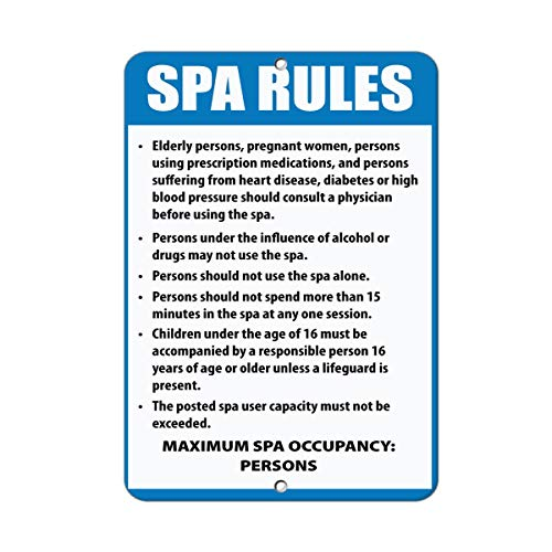 Yohoba Spa Rules & Regulations Read & Follow Spa Rules for Safety… Aluminum Metal Sign