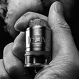 Cigarrillo electrónico DEJAVU RDTA Tanque 2 ml Vape Tank Bobina Dual Building 25 mm Diámetro Ecig Atomizer Flujo de aire ajustable Dide Abierto Flujo de aire Nottom, sin nicotina No E Liquid, (Negro)