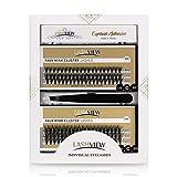 LASHVIEW eyelash extension kit,Naturals Individual Lashes,Faux mink cluster lashes,bottom lashes,individual lashes with glue and tweezers