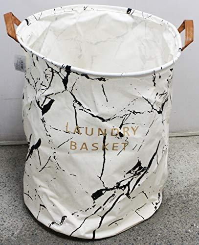 Cesto Para Roupas Sujas Organizador Flexível Laundry Basket Branco Preto