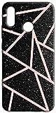 Mixroom - Cover Custodia Back Case in TPU Silicone Morbida per Wiko View 2 PRO Fantasia Triangoli Glitter N1095