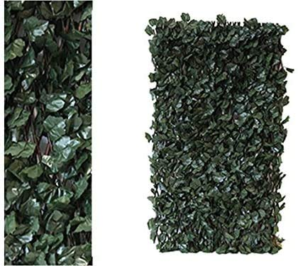 Abaseen Realistic & Thick Artificial Maple Leaf Hedge Fence Expandable Privacy Screen Panels 2m x 1m, UV Protection Wall Decor for Indoor Outdoor