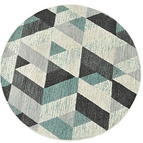 Tapis rond Salon table basse tapis Tapis chambre chambre Panier chaise pivotante tapis (taille : 160cm)