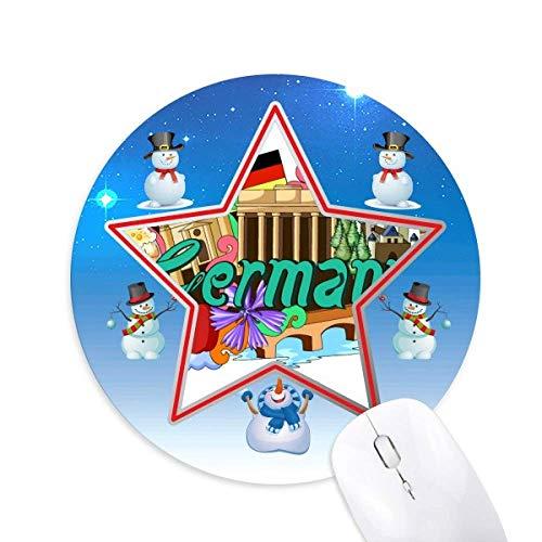 Neue Swan Stone Castle Bier Deutschland Graffiti Snowman Mouse Pad Round Star Mat
