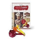 Kinderleichte Becherküche Band 3: 'Plätzchen, Kekse, Cookies & Co.' | Backset inkl. 3 bunter Messbecher mit Ausstechform, Weihnachtsbäckerei | Mit 10 tollen Keks- und Plätzchenrezepten