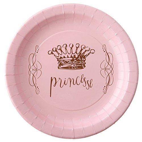 Prinzessin Partyteller, 6er Pack, zum Thema Prinzessin, zauberhaftes Design, 22,5cm