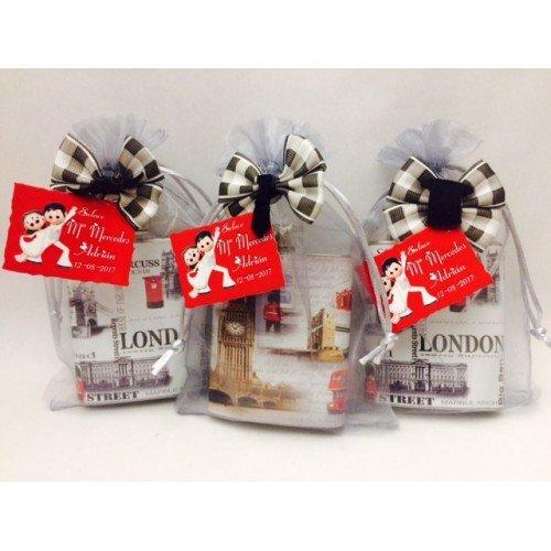 Petacas para invitados PERSONALIZADAS para regalo detalle boda/bodas de oro/bodas de plata (pack 15 unidades) con tarjetas y decoradas