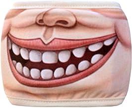 (H) おもしろマスク 面白い 変顔マスク 洗える 布 コスプレ ファッションマスク/02 変装 ハロウィン 仮装 被り物 お面 コスチューム 覆面 衣装 半顔 学園祭 パーティーグッズ おもしろ雑貨 口 唇 笑顔 人気