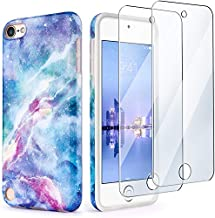 iPod Touch 7th Generation Case with 2 Screen Protectors, IDWELL iPod Touch 6 iPod 5 Case, Slim FIT Anti-Scratch Flexible Soft TPU Bumper Protective Case(Latest Model,2019 Release), Blue Fantasy Sky