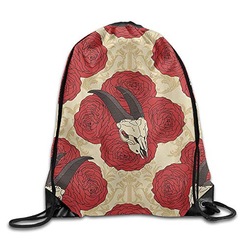 Jiger Water Repellent Gymbag Large Drawstring Backpack Climb Tree Hippopotamus Sackpack for Shopping Sport Yoga