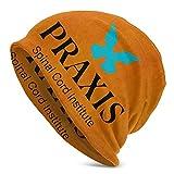 Photo de YONGJING Praxis Un institut Logo Bonnet en Tricot pour Homme Adulte, Bonnet Bonnet Unisexe Adulte Chapeaux, Casquette, Cagoule, Demi Cagoule Bla
