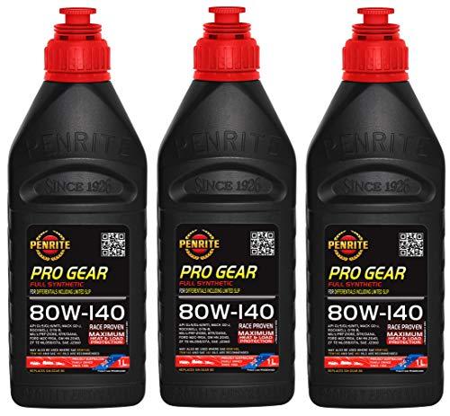 Penrite PRO Gear 80W-140 GL5 GL6 Olio Completamente Sintetico per Ingranaggi Incluso Limited Slip, 3 Lit