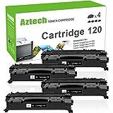 Aztech Compatible Toner Cartridge Replacement for Canon 120 Toner Cartridge CRG-120 CRG120 Canon ImageClass D1120 D1150 D1550 D1320 D1350 D1170 D1180 D1370 D1520 D1100 Toner Printer (Black, 4-Pack)