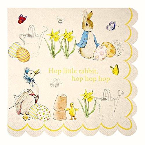 Meri Meri 45-1158 Easter Peter Rabbit guardanapos grandes